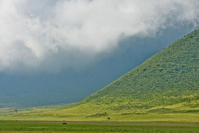feel surrounded by the crater slope with allen tanzania safaris