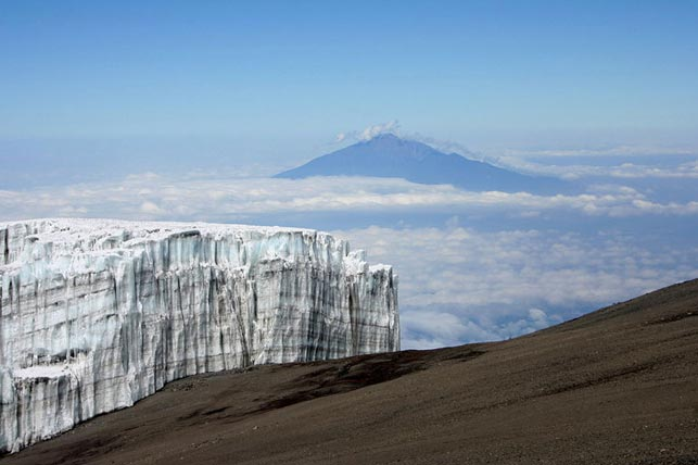 get intouch with the kilimanjaro ice fields and glaciers with Allen Tanzania Safaris