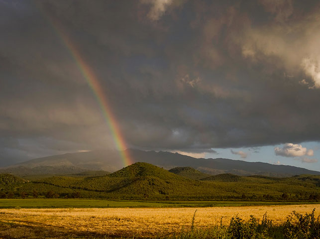 spot the rainbow over kilimanjaro from enduiment with allan tanzania safaris